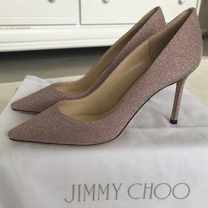 Jimmy Choo Romy 85 pumps in glittery pink